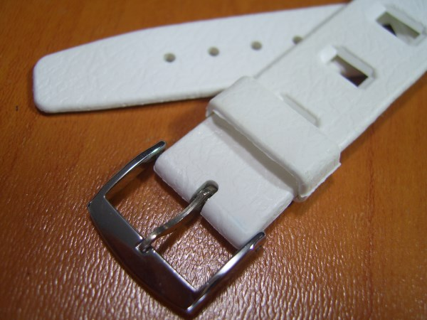 AQUA G.S 20MM VINTAGE NOS 1960-70'S SWISS MADE WHITE DIVE RUBBER BAND STRAP