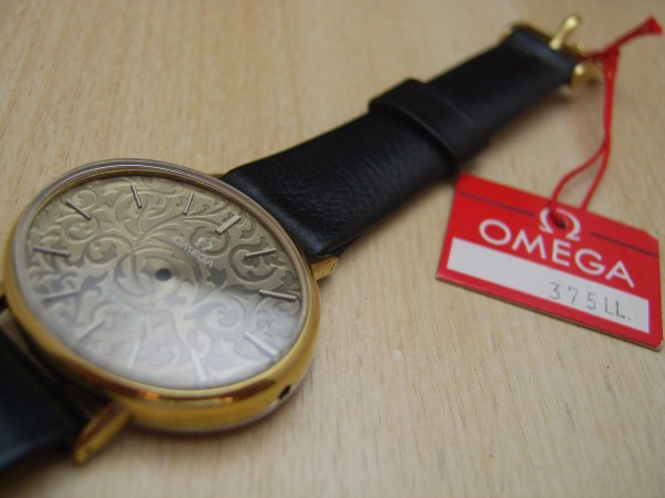 NOS OMEGA GENEVE LADIES COMPLETE CASE CRYSTAL DIAL STRAP & BUCKLE