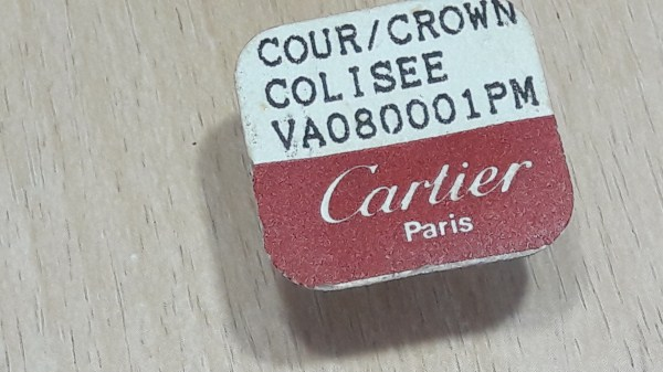 Genuine Cartier Colisee VA08001PM Yellow Crown with Stem / Blue Sapphire
