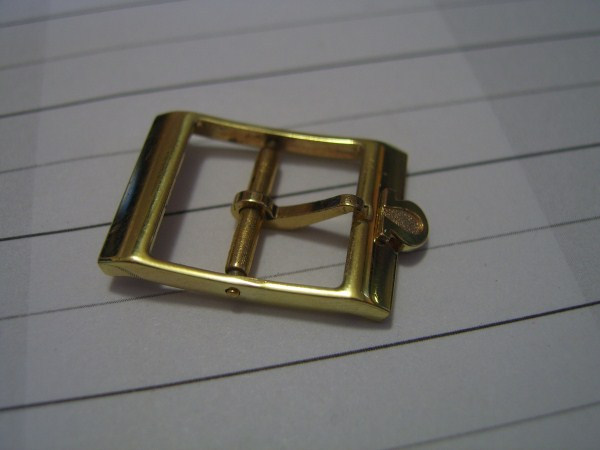 OMEGA DYNAMIC : 14MM YELLOW GOLD PLATED WATCH BUCKLE