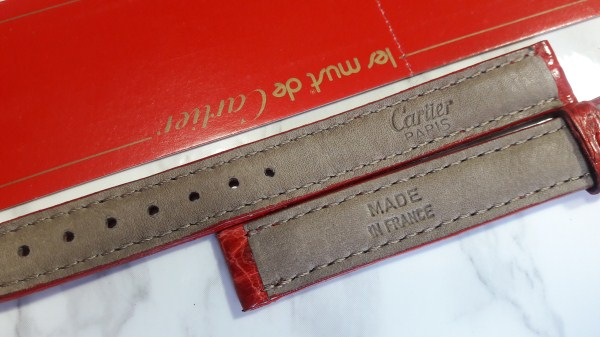 CARTIER TANK OEM LADIES RED ALLIGATOR 12MM STRAP AUTHENTIC - FACTORY PACKAGING