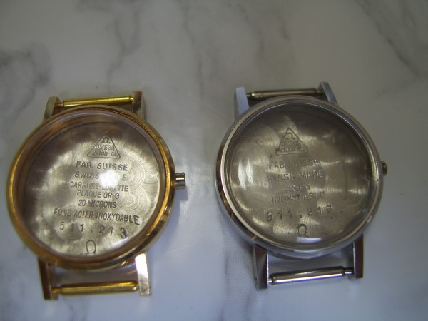 OMEGA : LOT X 2 LADIES (CASE & CRYSTAL) FOR CAL 620 - 625