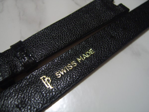 PATEK PHILIPPE 1970'S VINTAGE 16X13 MM BLACK LIZARD LEATHER BAND STRAP