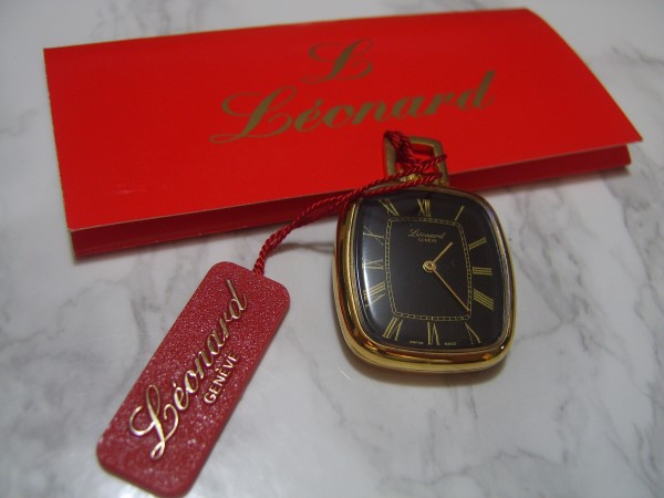 LEONARD : BEAUTIFUL NOS 1970'S SWISS LEONARD MANUAL POCKET WATCH