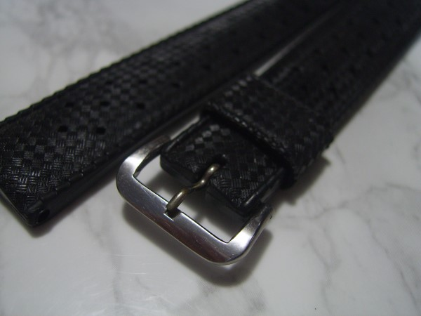 TROPIC : 19MM AUTHENTIC NOS 1960'S TROPIC PERFORATED SWISS STRAP