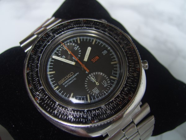 Seiko : Calculator Slide Rule Automatic Chronograph 6138-7000