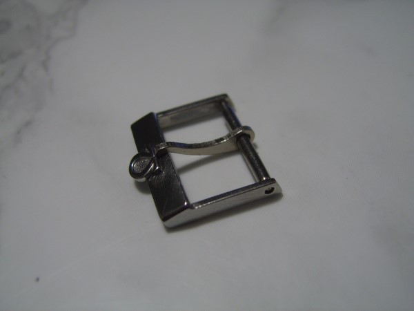 OMEGA : 16MM VINTAGE 1960'S  STAINLESS STEEL SWISS MADE GENT'S BUCKLE