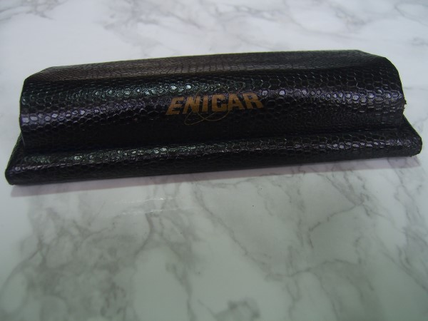ENICAR 1960'S BLACK LEATHER BOX REF 141 FOR ENICAR SHERPA