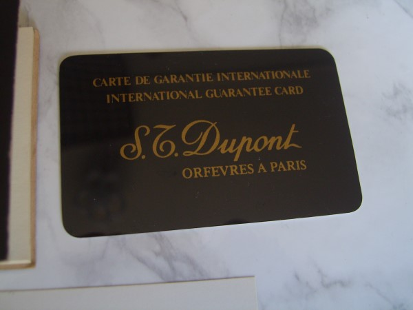 S.T.DUPONT INTERNATIONAL GUARANTEE WARRANTY BOOKLET, NEW, UNUSED, BLANK