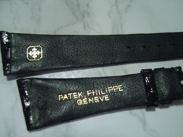 VINTAGE NOS 21X14MM PATEK PHILIPPE BLACK CROCODILE BAND