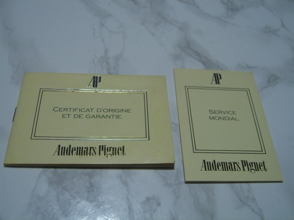 AUDEMARS PIGUET INTERNATIONAL GUARANTEE WARRANTY BOOKLETS, UNUSED, BLANK, OPEN