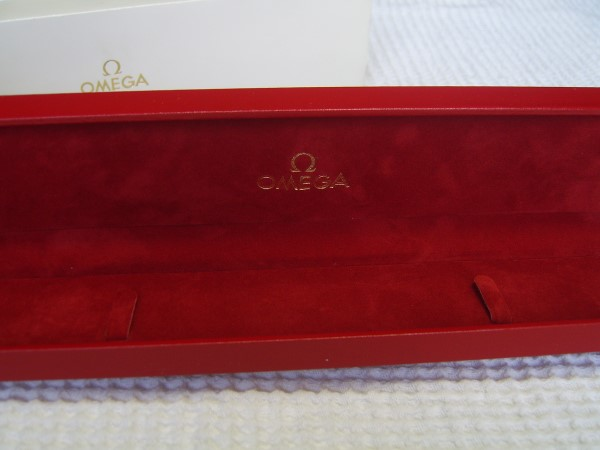 Omega : Vintage NOS Red Leather BOX With Outer Box - Mint Condition