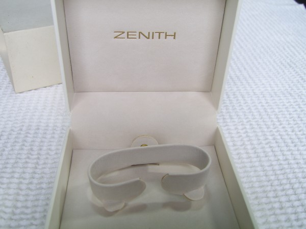 ZENITH : Vintage NOS White Leather BOX With Outer Box