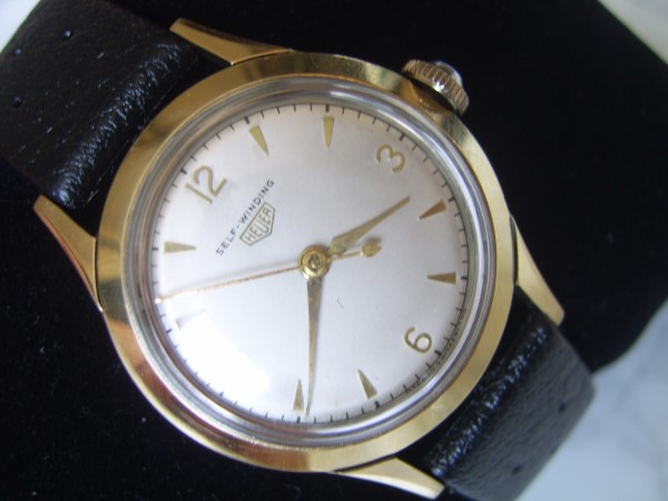 Vintage 1950's HEUER Self-Winding Automatic cal 1361 Gold Capped