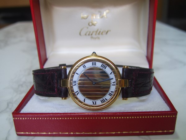 MUST DE CARTIER : VERMEIL 18K QUARTZ MEN'S WATCH