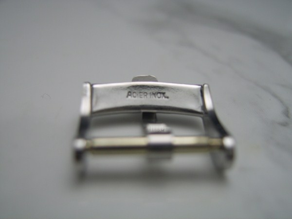 GIRARD PERREGUAUX : 14MM VINTAGE 1960'S STAINLESS STEEL BUCKLE