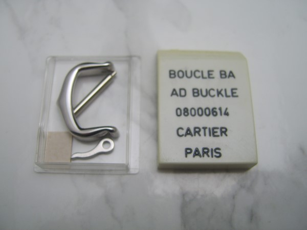 100% AUTHENTIC NEW SEALED 14MM CARTIER TANG CLASP SILVER TONE BUCKLE