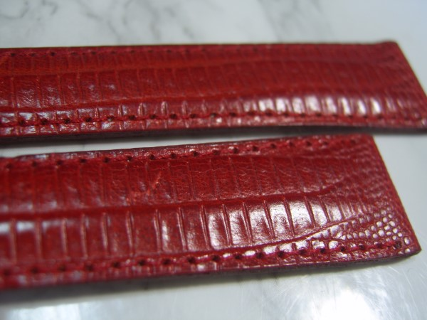 VINTAGE BREGUET 18X14 MM RED LEATHER BAND