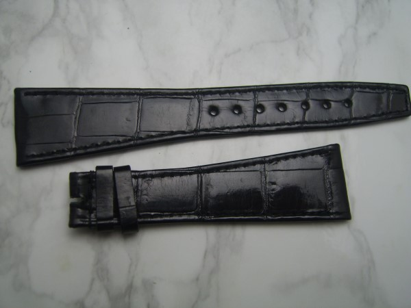 VACHERON CONSTANTIN : 21MM BLACK CROCODILE BAND STRAP