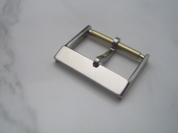 RARE 1960'S 16MM SWISS MADE STAINLESS STEEL BUCKLE