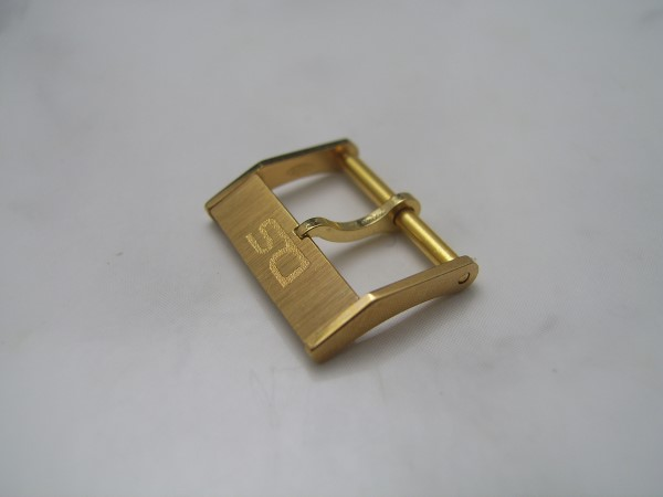 CERTINA DS : 16MM YELLOW GOLD BLATED BUCKLE