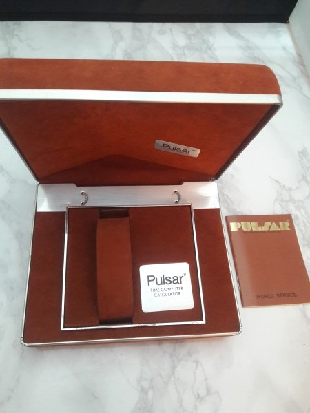 1970's PULSAR Led Calculator (First Calculator Watch) BOX ONLY