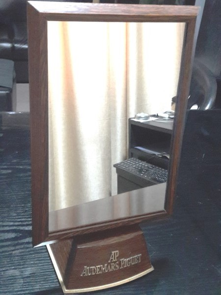 Audemars Piguet : 1970's Wooden Display Official Dealer Mirror