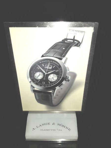 A . LANGE & SOHNE : A LANGE & SOHNE Datograph Flyback Stand Display Advertising