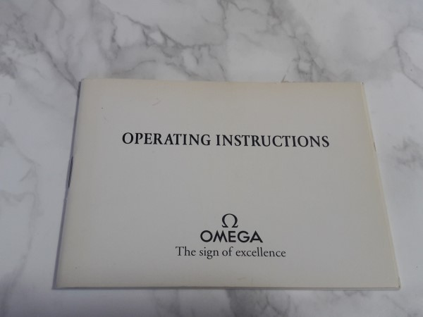 OMEGA : 1993 INSTRUCTION BOOKLET FOR OMEGA SEAMASTER CAL 1154 / 1155