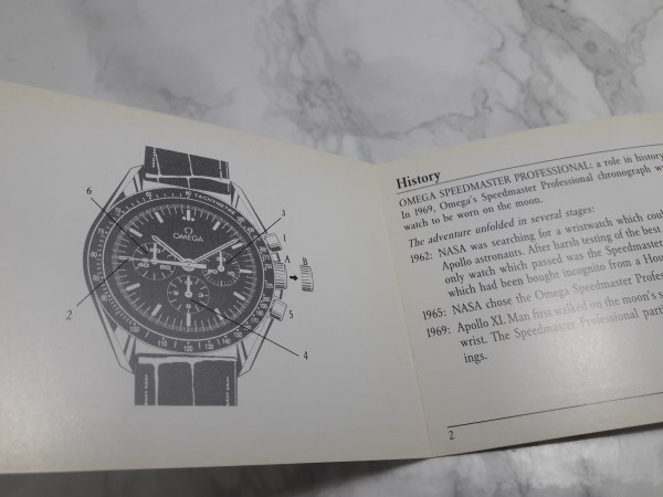 OMEGA : 1993 INSTRUCTION BOOKLET FOR OMEGA SPEEDMASTER MOONWATCH CAL 861