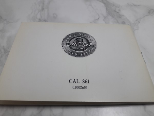 1993 INSTRUCTION BOOKLET FOR OMEGA SPEEDMASTER MOONWATCH CAL 861