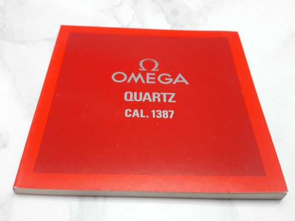 OMEGA : 1982 INSTRUCTION BOOKLET FOR OMEGA QUARTZ CAL 1387