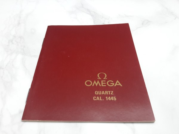OMEGA : 1988 INSTRUCTION BOOKLET FOR OMEGA CONSTELLATION QUARTZ CAL 1445