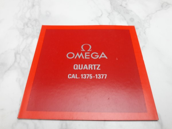 OMEGA : 1983 INSTRUCTION BOOKLET FOR OMEGA QUARTZ CAL 1375 - 1377