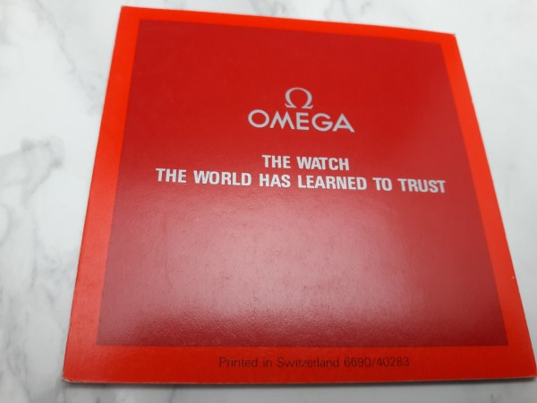 OMEGA : 1983 INSTRUCTION BOOKLET FOR OMEGA QUARTZ CAL 1380 - 1382