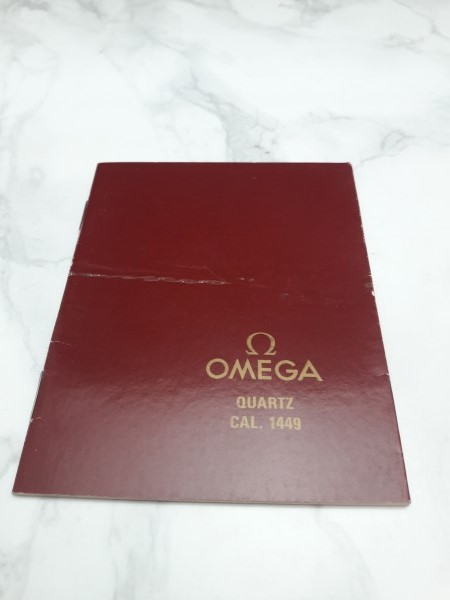 OMEGA : 1987 INSTRUCTION BOOKLET FOR OMEGA QUARTZ CAL 1449