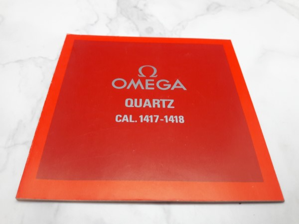 OMEGA : 1982 INSTRUCTION BOOKLET FOR OMEGA QUARTZ CAL 1417 - 1418