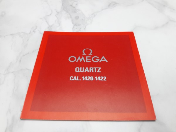 OMEGA : 1982 INSTRUCTION BOOKLET FOR OMEGA QUARTZ CAL 1420 - 1422