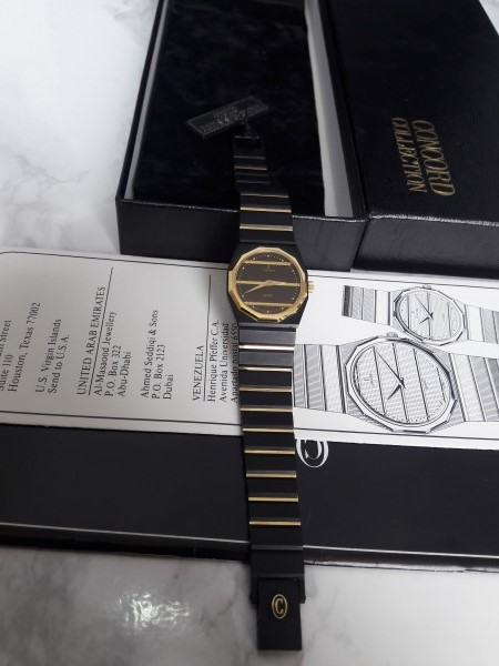 CONCORD MARINER SG : 18K / black PVD Ladies Watch Box Paper - NEW IN BOX