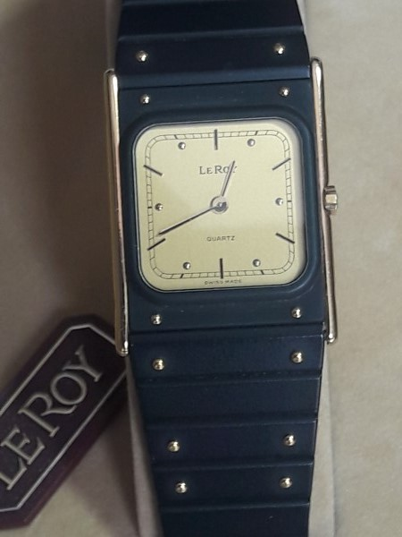 ELEGANT NOS 1980'S BAUME MERCIER LE ROY QUARTZ MEN'S WATCH - BOX PAPER