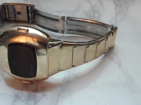 Tiffany & Co Pulsar 14k Gold Filled P3 Date Command Digital Led Watch Box Booklet