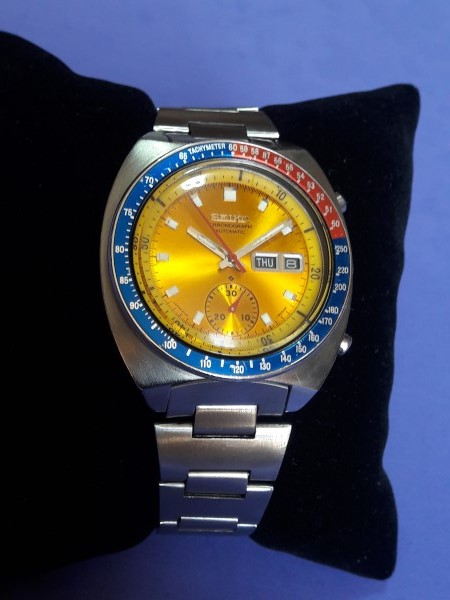 VINTAGE 70'S SEIKO CHRONOGRAPH 6139-6002 PEPSI POGUE - ORIGINAL CONDITION