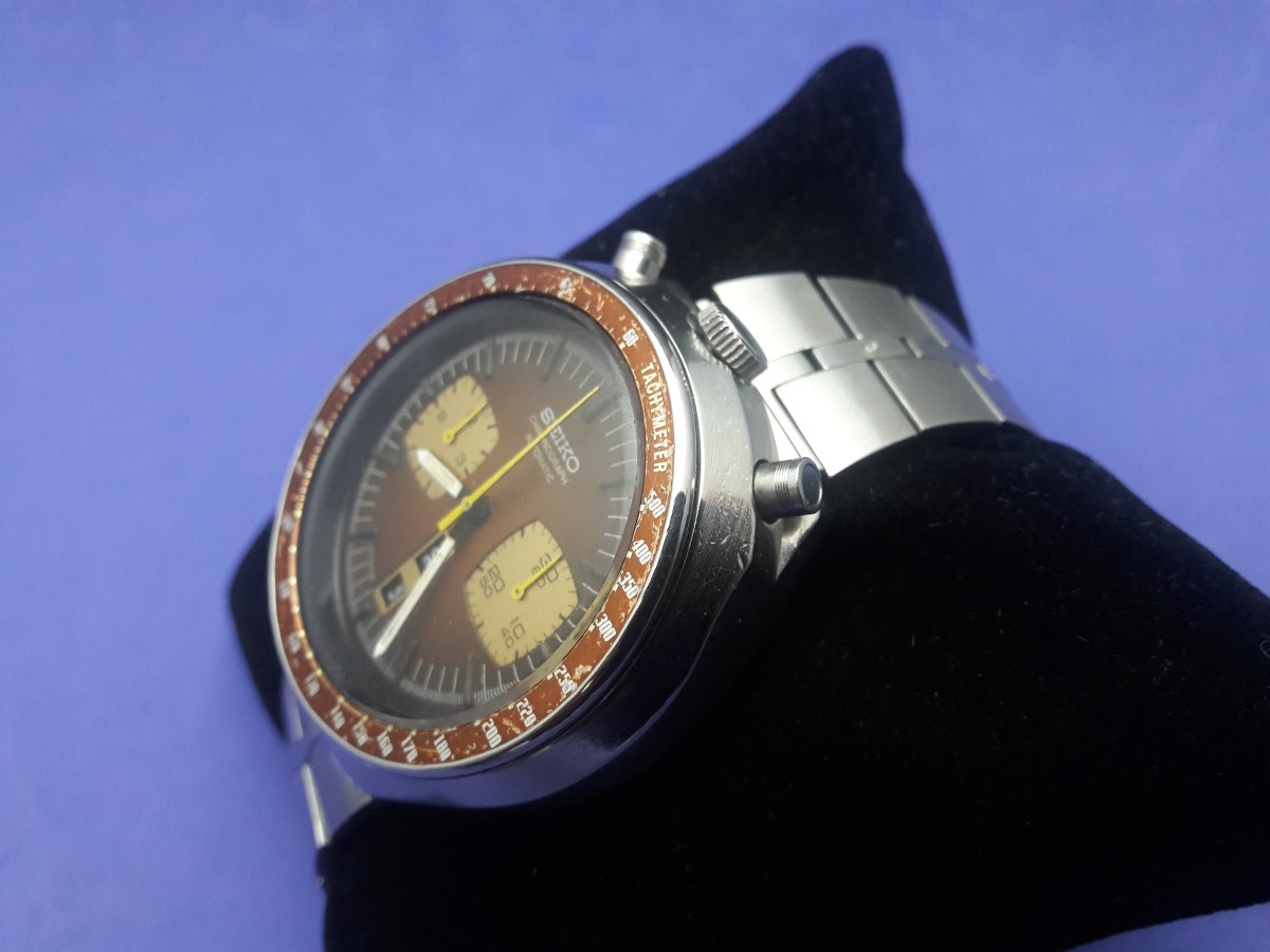 COLLECTIBLE 70'S SEIKO CHRONOGRAPH  BULLHEAD 6138-0040 ORIGINAL CONDITION
