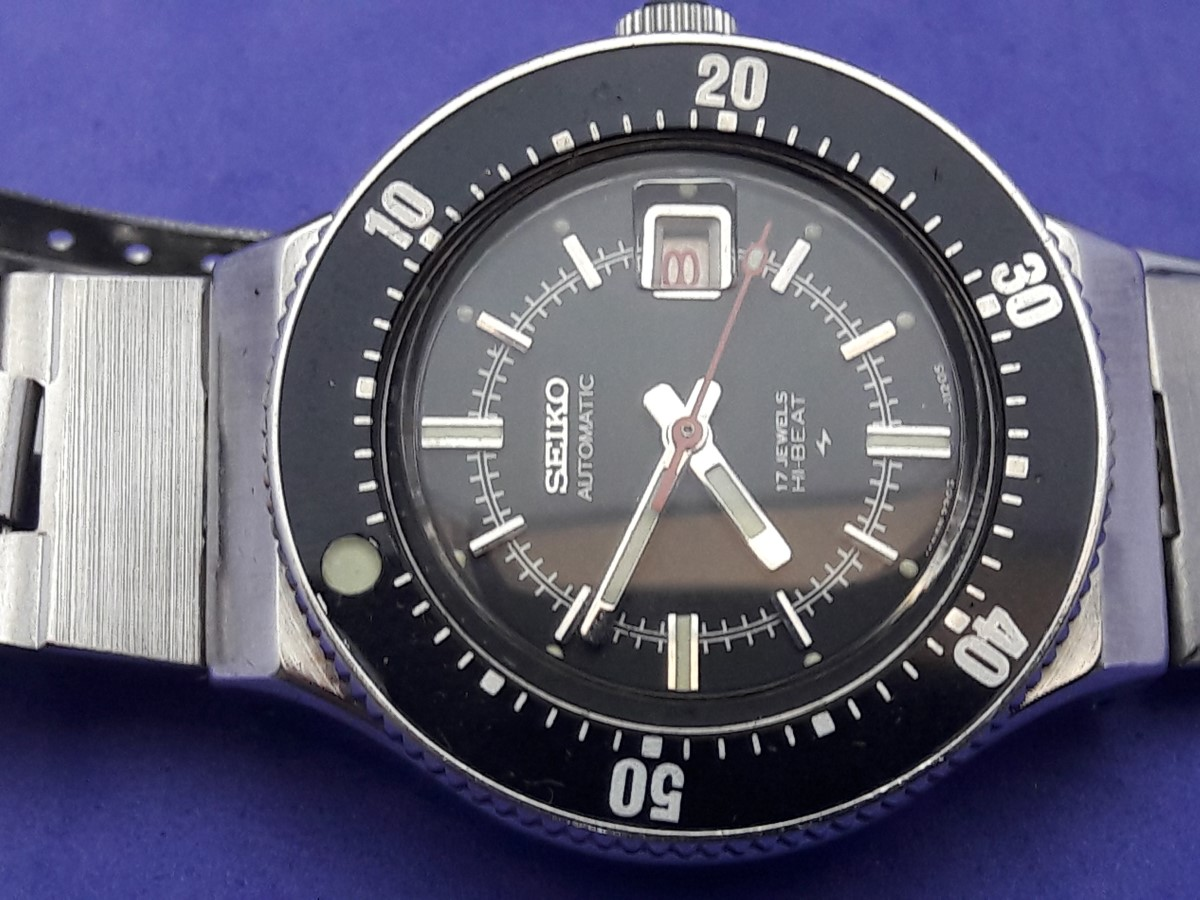 RARE 70'S LADIES SEIKO 2205-0649 DIVER'S AUTOMATIC HI-BEAT MOVEMENT - FULL ORIGINAL