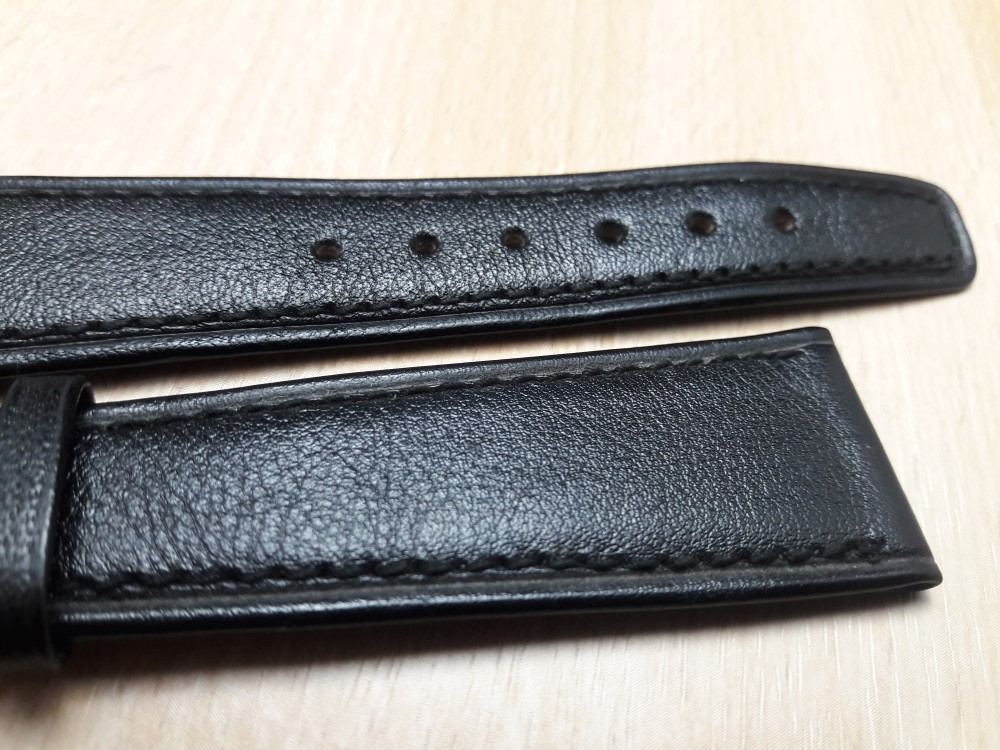 VINTAGE NOS 22X16 MM PATEK PHILIPPE BLACK LEATHER BAND