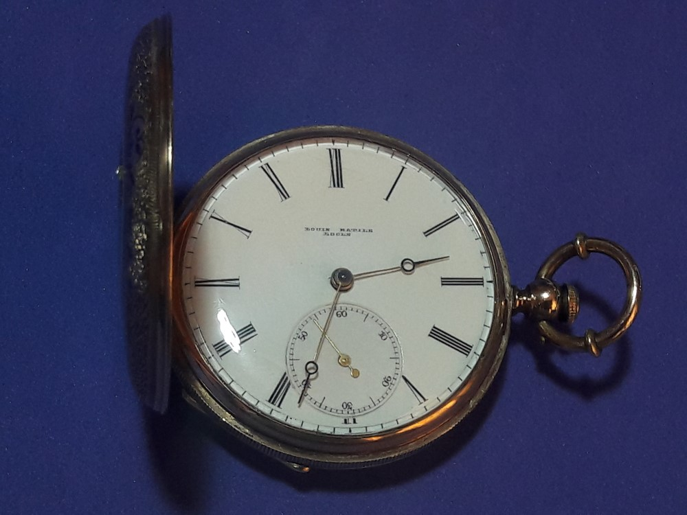 MUSEUM GRADE LOUIS MATILE 20K DIAMONDS CUT POCKET WATCH 40MM 42G