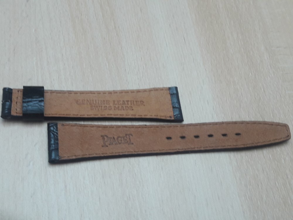 PIAGET 18MM 1970'S VINTAGE NOS DARK BROWN CROCODILE LEATHER BAND STRAP
