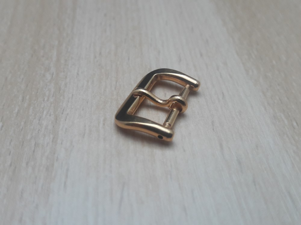 VINTAGE NOS CERTINA 1950-60'S 14MM ROSE GOLD PLATED BUCKLE