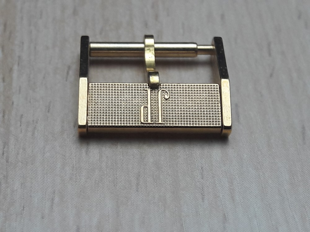 RARE 1970'S 14MM JEAN PERRET SWISS MADE YELLOW GOLD PLATED BUCKLE