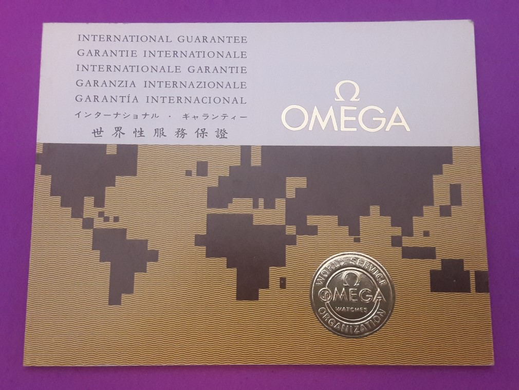 1970 OMEGA INTERNATIONAL GUARANTEE WARRANTY BOOKLET, NEW, UNUSED, BLANK